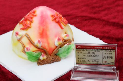 唐瑞作品 寿桃蛋糕-梦想起航 广州新东方西点14班迎来毕业展览