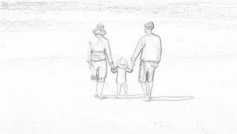 家庭亲子简笔画