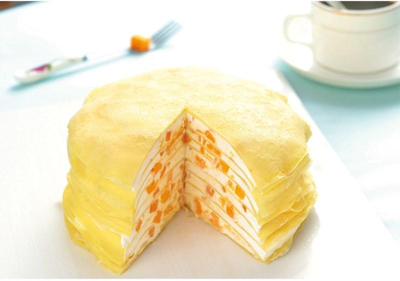来块芒果千层蛋糕!给生活添加一抹甜